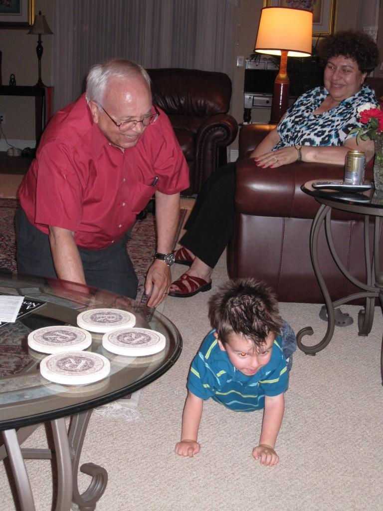 Brit with Grandpa Dennis