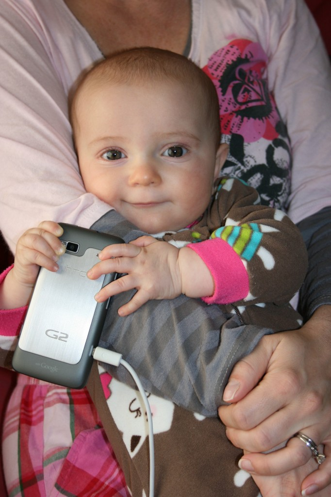 kaia with phone